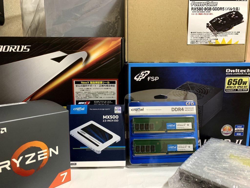 AMD Ryzen 7 2700Xで自作PC作ってみた【組み立て編】