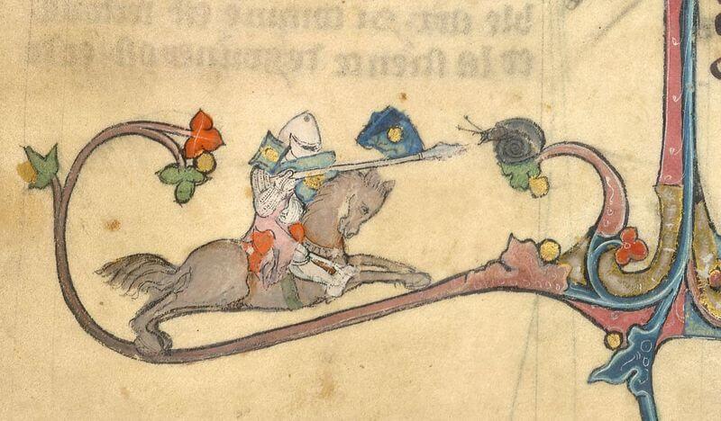 騎士vsかたつむり